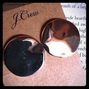 JCrew hammered silver earrings